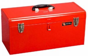 "Excel 20"" Portable Metal Tool Box"