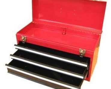 Excel 3-Drawer Portable Metal Toolbox -Retro Portable Toolbox