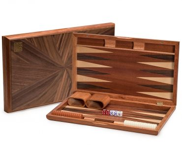Yellow Mountain Rosewood Backgammon Set with Wood Inlay